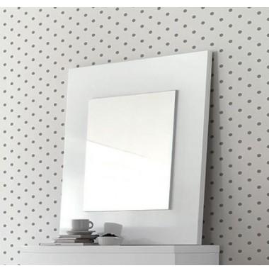 Espejo sobre marco de madera de 80X80.