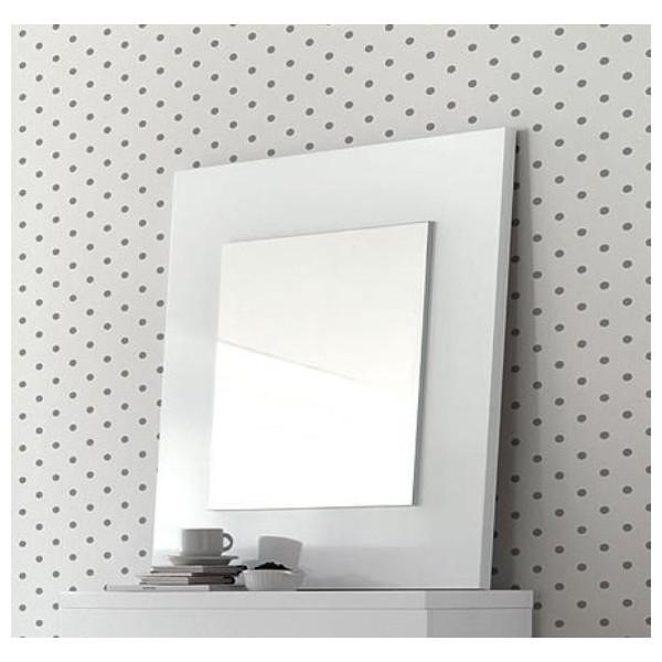 Espejo sobre marco de madera de 80x80 for Espejo marco ancho
