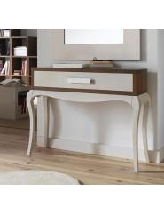Mueble consola clásica de recibidor bicolor.