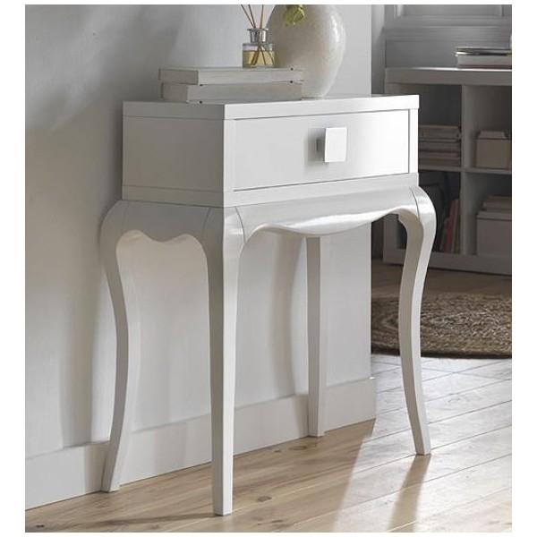 Mueble consola vintage de entrada con un caj n for Consola recibidor vintage